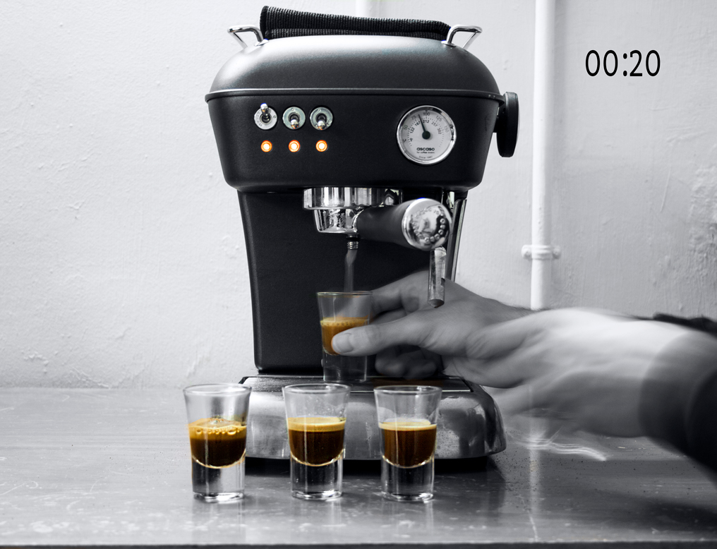 Experiment with an espresso